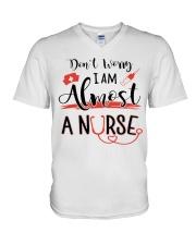 ALMOST A NURSE V-Neck T-Shirt thumbnail