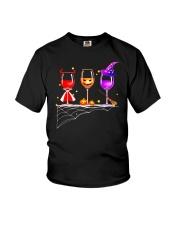 WINE HALLOWEEN PUMPKIN Youth T-Shirt thumbnail