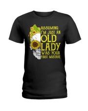 ASSUMING I'M JUST AN OLD LADY Ladies T-Shirt thumbnail