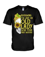 ASSUMING I'M JUST AN OLD LADY V-Neck T-Shirt thumbnail