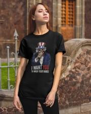 I WANT YOU T-SHIRT Classic T-Shirt apparel-classic-tshirt-lifestyle-06