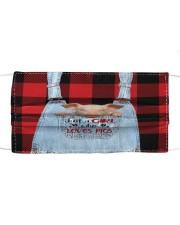 Farm Girl -  ln pigs 2 Cloth face mask front