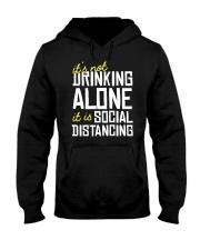 DRINKING ALONE Hooded Sweatshirt thumbnail
