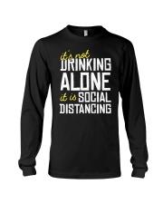 DRINKING ALONE Long Sleeve Tee thumbnail