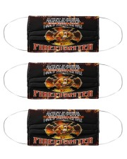 I Own It Forever The Title Firefighter  Cloth Face Mask - 3 Pack front