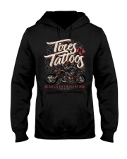 TIRES AND TATTOOS Hooded Sweatshirt thumbnail