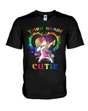 THIRD GRADE CUTIE UNICORN V-Neck T-Shirt thumbnail