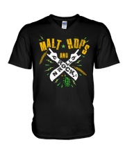 MALT HOPS AND ROCK N ROLL V-Neck T-Shirt thumbnail