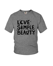LOVE SIMPLE BEAUTY Youth T-Shirt thumbnail