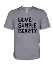 LOVE SIMPLE BEAUTY V-Neck T-Shirt thumbnail