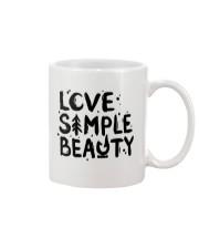 LOVE SIMPLE BEAUTY Mug front