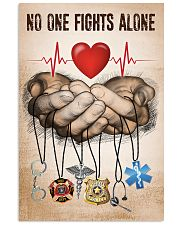 NO ONE FIGHTS ALONE POSTER 24x36 Poster front
