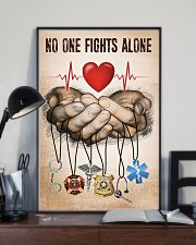 NO ONE FIGHTS ALONE POSTER 24x36 Poster lifestyle-poster-2