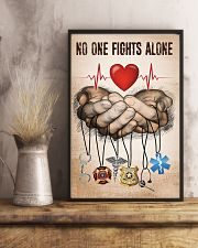 NO ONE FIGHTS ALONE POSTER 24x36 Poster lifestyle-poster-3