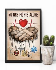 NO ONE FIGHTS ALONE POSTER 24x36 Poster lifestyle-poster-8