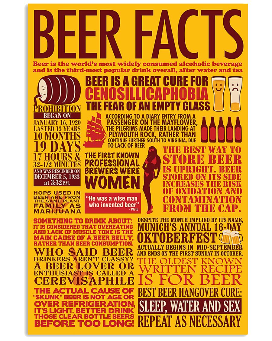 BEER FACTS 24x36 Poster