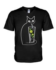 CAT CAIPIROSKA COCKTAIL V-Neck T-Shirt thumbnail