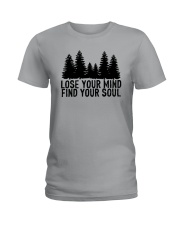 LOSE YOUR MIND - FIND YOUR SOUL Ladies T-Shirt thumbnail