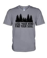 LOSE YOUR MIND - FIND YOUR SOUL V-Neck T-Shirt thumbnail