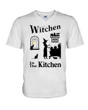 WITCHEN IN THE KITCHEN V-Neck T-Shirt thumbnail