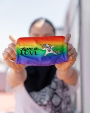 LOVE IS LOVE Cloth face mask aos-face-mask-lifestyle-07