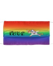 LOVE IS LOVE Cloth face mask front