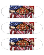 FLAG FIREFIGHTER Cloth Face Mask - 3 Pack front