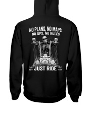 NO RULES JUST RIDE Hooded Sweatshirt tile