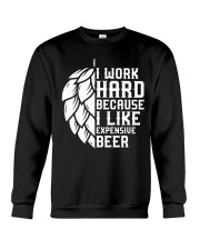 I like expensive beer Crewneck Sweatshirt tile