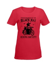 BLACK HAT RIDING SOCIETY Ladies T-Shirt women-premium-crewneck-shirt-front