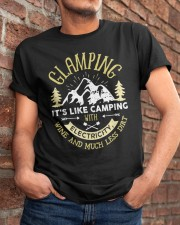 GLAMPING - CAMPING WITH ELECTRICITY Classic T-Shirt apparel-classic-tshirt-lifestyle-26