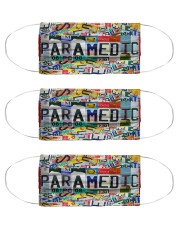 Paramedic Number Plate Cloth Face Mask - 3 Pack front