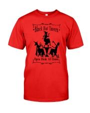 BLACK HAT TAVERN OPEN DUSK TIL DAWN Classic T-Shirt front