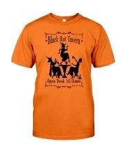 BLACK HAT TAVERN OPEN DUSK TIL DAWN Classic T-Shirt thumbnail