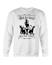 BLACK HAT TAVERN OPEN DUSK TIL DAWN Crewneck Sweatshirt thumbnail