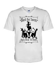 BLACK HAT TAVERN OPEN DUSK TIL DAWN V-Neck T-Shirt thumbnail