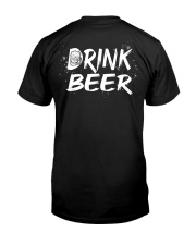 Skull drink beer Classic T-Shirt back
