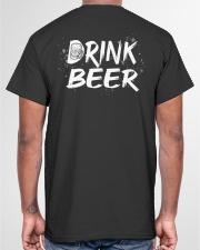 Skull drink beer Classic T-Shirt garment-tshirt-unisex-back-04