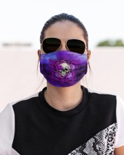 Skull - Floral - 4 Cloth face mask aos-face-mask-lifestyle-02