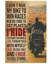 I RIDE TO FEEL STRONG 16x24 Poster front