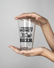 MY LAST BEER 16oz Pint Glass aos-16oz-pint-glass-lifestyle-front-03