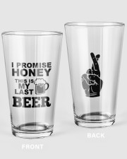 MY LAST BEER 16oz Pint Glass front