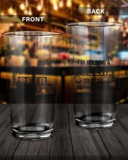I'M HOLDING A BEER 16oz Pint Glass aos-16oz-pint-glass-lifestyle-front-14