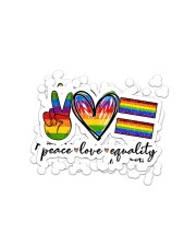 LOVE IS LOVE 2 Sticker - 2 pack (Horizontal) front