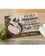 """PERSONALIZED OLD FISHERMAN AND GREATEST CATCH Doormat 22.5"""" x 15""""  aos-doormat-22-5x15-lifestyle-front-11"""