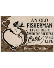 """PERSONALIZED OLD FISHERMAN AND GREATEST CATCH Doormat 22.5"""" x 15""""  front"""