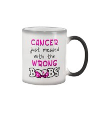 CANCER JUST MESSED WITH THE WRONG BOOBS Color Changing Mug thumbnail