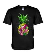 FLOWER PINEAPPLE V-Neck T-Shirt thumbnail