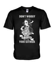 MY TATTOOS DON'T LIKE YOU EITHER V-Neck T-Shirt thumbnail