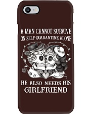 QUARANTINED ALONE LONG SLEEVES T-SHIRT Phone Case thumbnail
